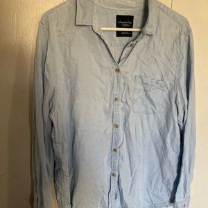 American eagle long sleeve button up